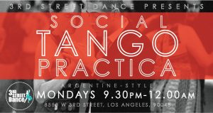 Monday Social Tango Practica @ Third Street Dance