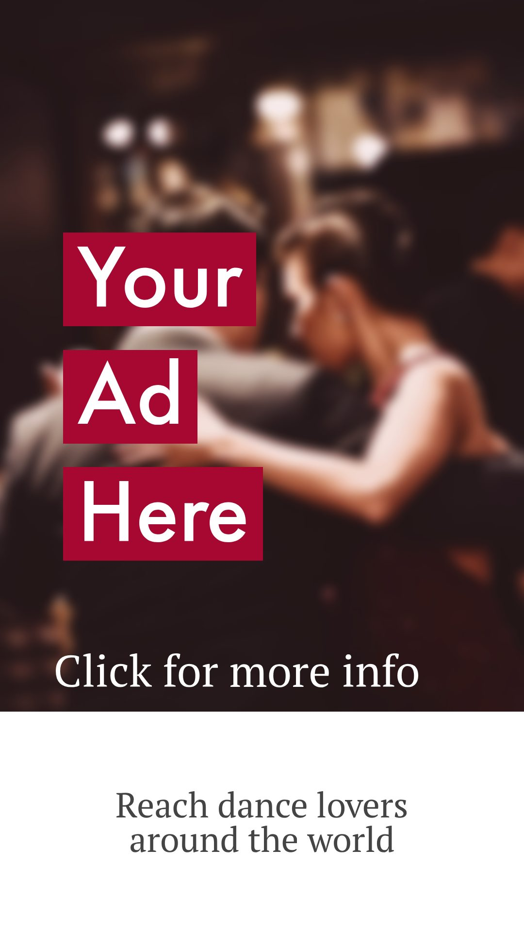Tango Advertisments, dance ads