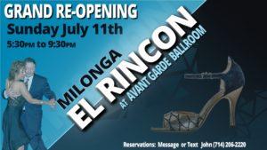 Milonga El Rincon @ Avant Garde Ballroom